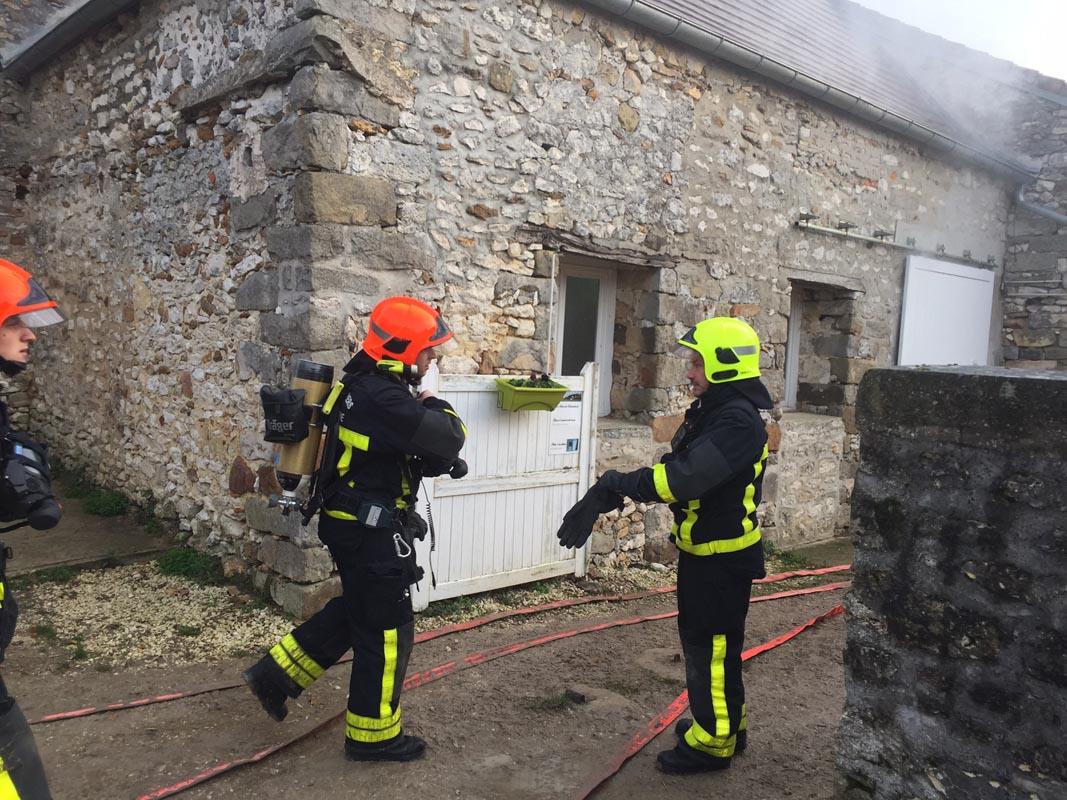Entrainement des pompiers au HDN